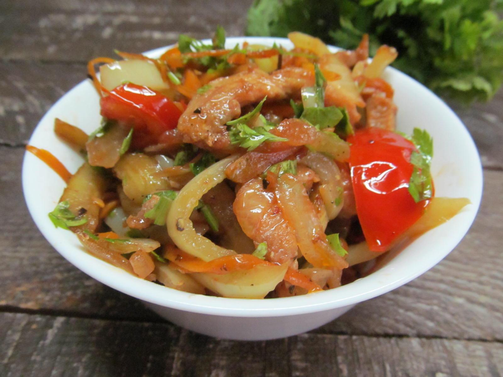 Курица с соевым соусом и болгарским перцем рецепт
