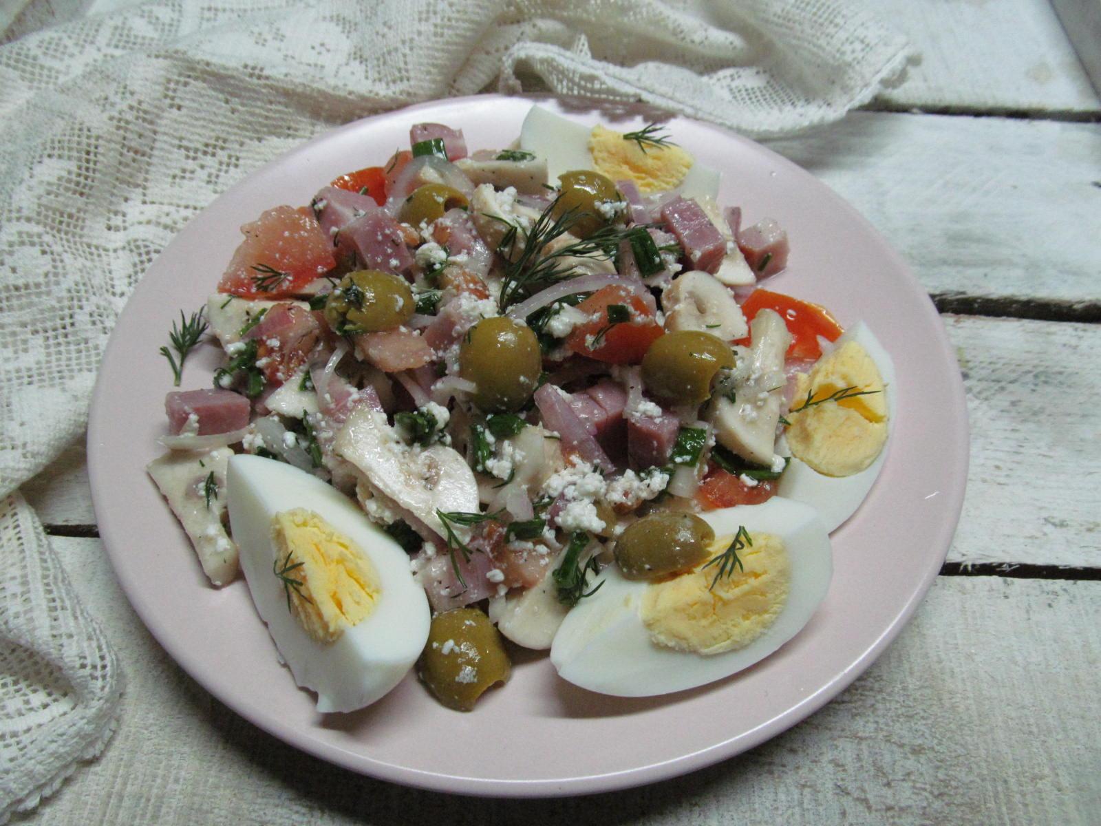 Салаты с маринованными грибами пошаговый рецепт