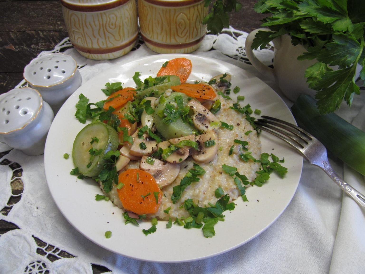грибы с овощами рецепт